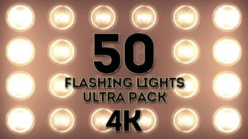 Videohive - Lights Flashing Ultra Pack 4K