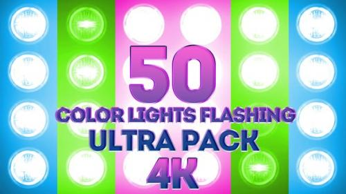 Videohive - Color Lights Flashing Ultra Pack 4K