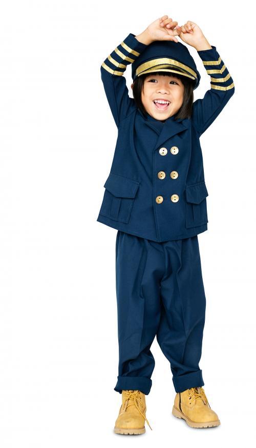 Little boy with pilot dream job smiling - 4922