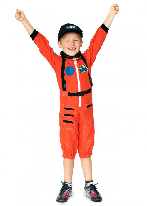 Little boy with astronaut dream job smiling - 5104
