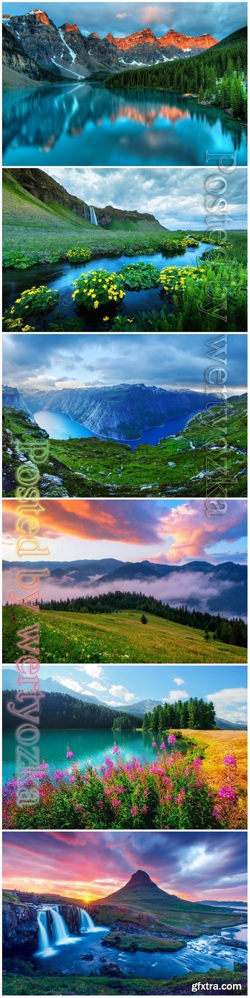 Nature, landscapes beautiful stock photo