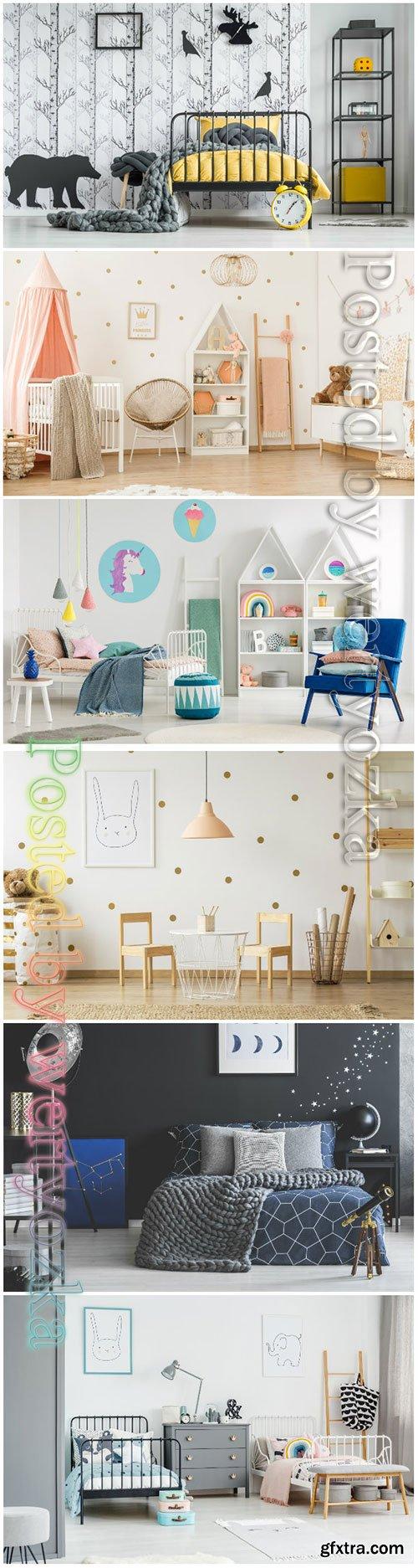 Child's room beautiful stock photo
