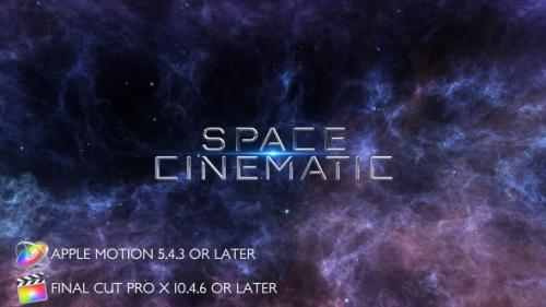 Videohive - Space Cinematic Titles - Apple Motion