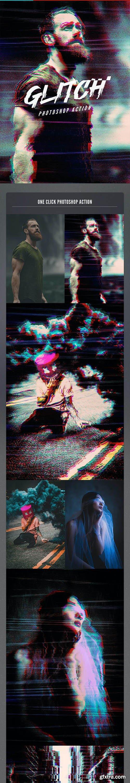 GraphicRiver - VHS Glitch Photoshop Action 26591925