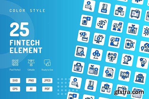 Fintech Element Color Icons