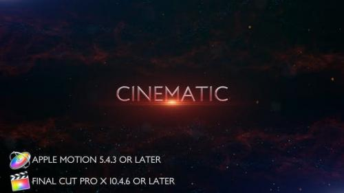 Videohive - Cinematic Trailer Titles - Apple Motion