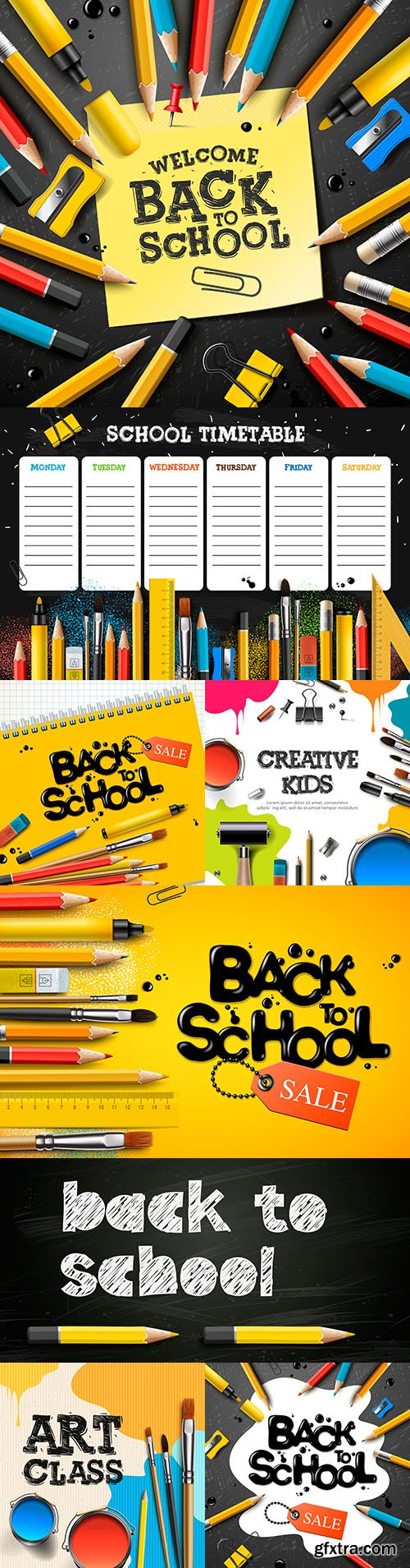 Back to school and accessories collection illustration 46