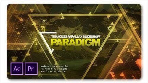 Videohive - Paradigm Triangles Parallax Slideshow