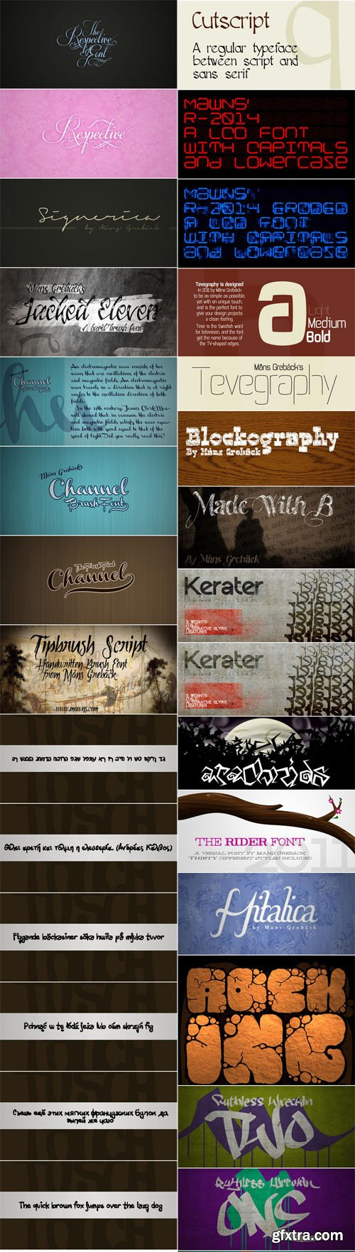 50 Fonts Collection