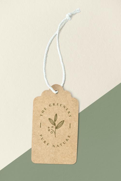 The greenery pure nature label mockup - 1202106