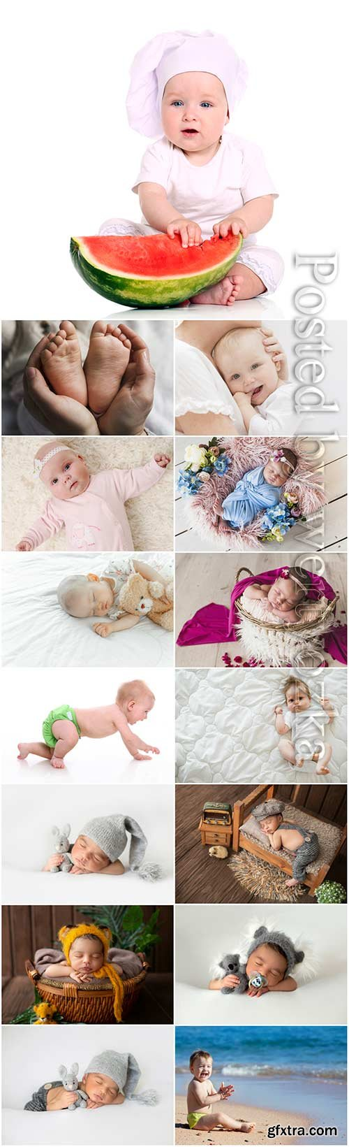 Little kids stock photo set