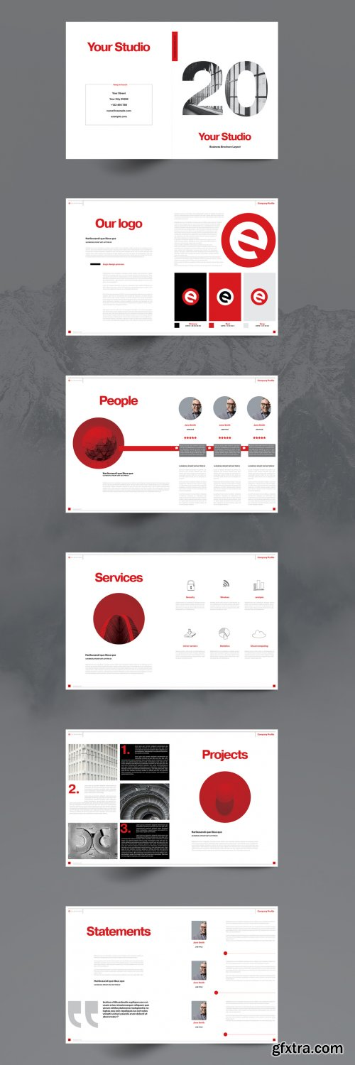CreativeMarket - Red Business Brochure Layout 5150608