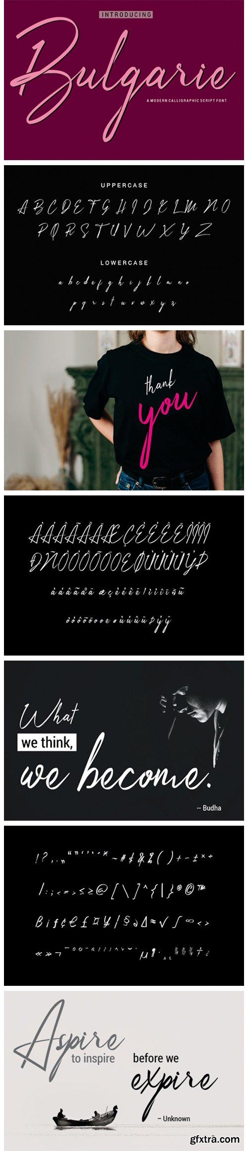 Bulgarie Font