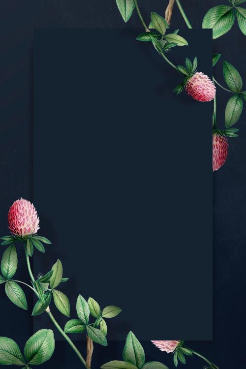 Cudweeds rectangle frame on a navy blue background mockup - 2090606