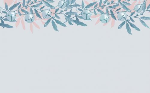 Sleigh bells frame design illustration - 1232754