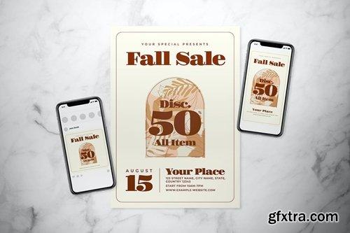 Fall Sale Flyer Set