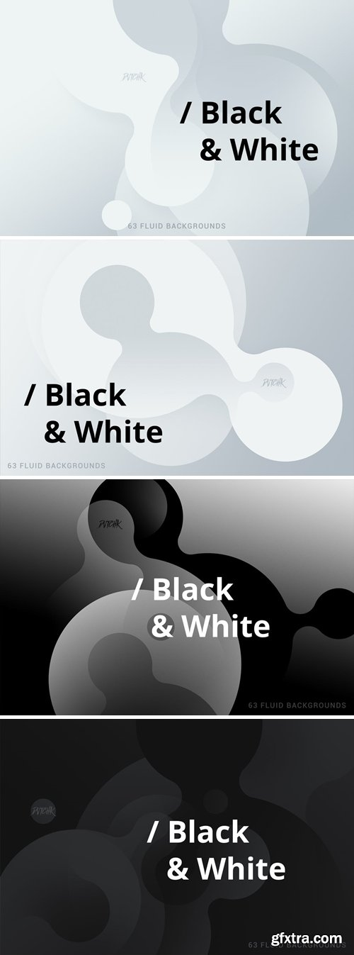 Black & White | Soft Fluid Backgrounds