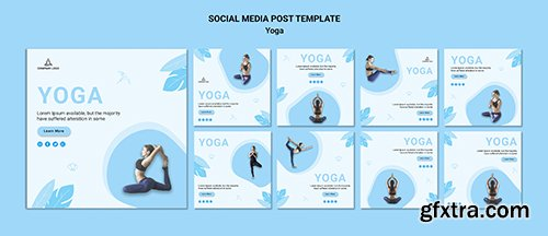 Instagram Posts Collection Yoga Exercise