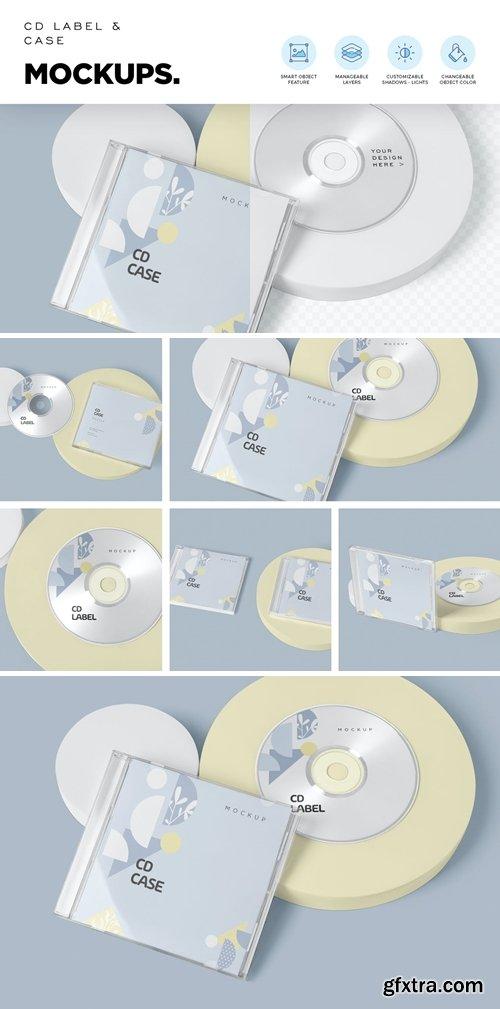 CD Label & Case Mockups