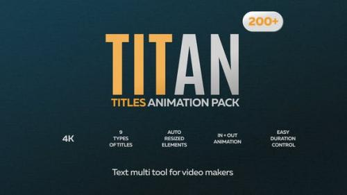 Videohive - 200 Animated Titles Pack for Premiere Pro MOGRT
