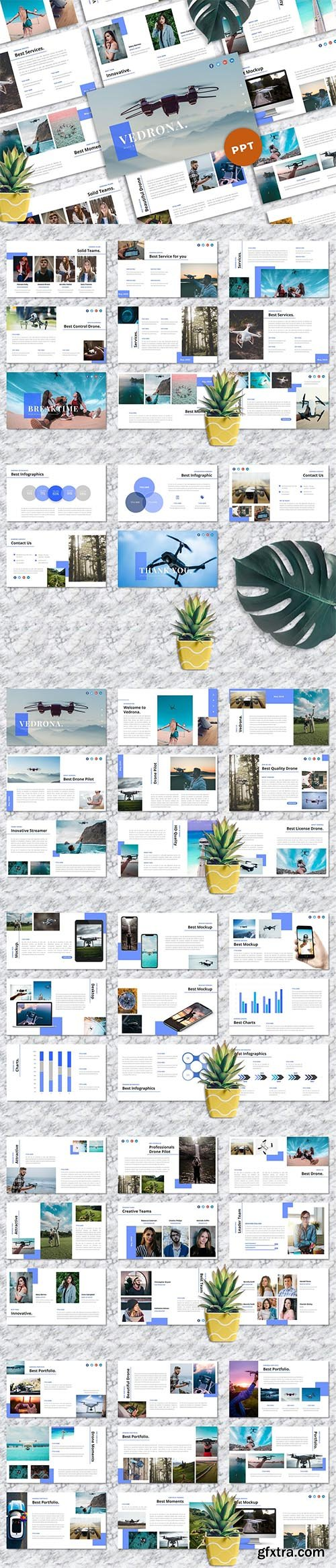 Vedrona - Drone & Photography PowerPoint Template