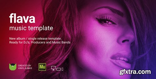 ThemeForest - Flava v1.0 - Album / Single Release Promo and DJ / Music Band Responsive Muse Template - 20177961