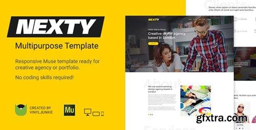 ThemeForest - Nexty v1.0 - Creative Multipurpose Portfolio /Agency Responsive Muse Template - 20824214