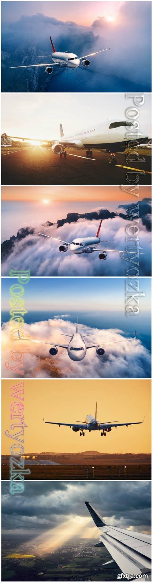 Airplane beautiful stock photo