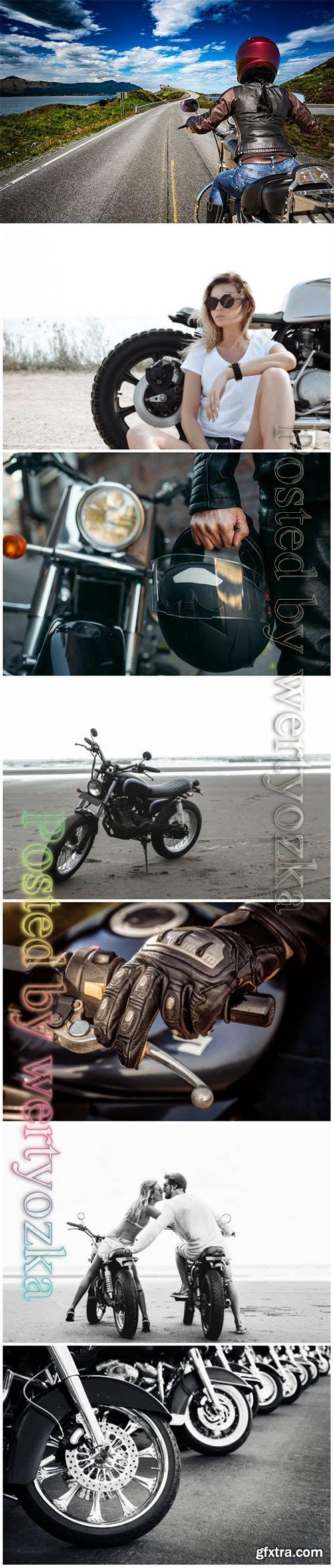 Motorcycles, biker beautiful stock photo