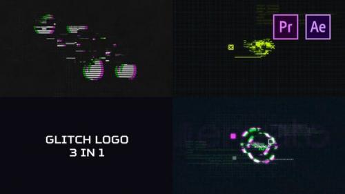 Videohive - Glitch Logo Pack