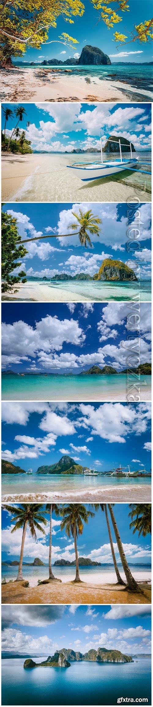 Beautiful landscape beach paradise
