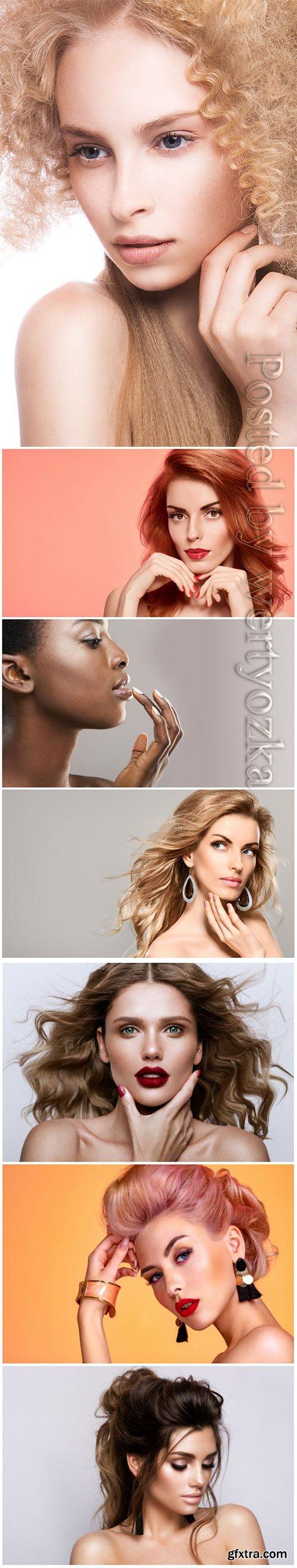Beautiful woman natural makeup skincare