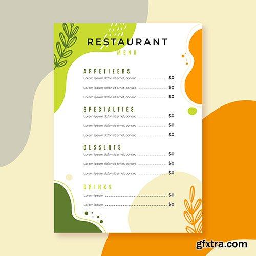 Restaurant menu template style