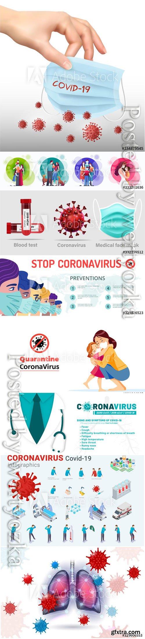 Coronavirus treatment concept vector design