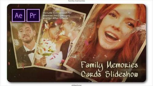 Videohive - Family Memories Cards Slideshow