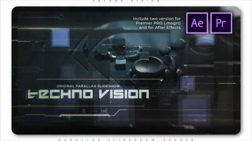 Videohive - Techno Vision Parallax Slideshow