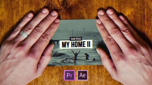 Videohive - Film Titles Slideshow | My Home II