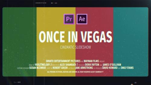 Videohive - Cinematic Slideshow | Once In Vegas