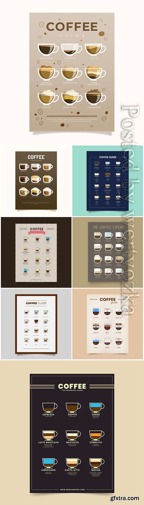 Coffee selection vector poster
