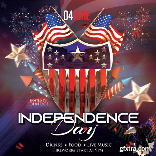 Independence Day - Premium flyer psd template