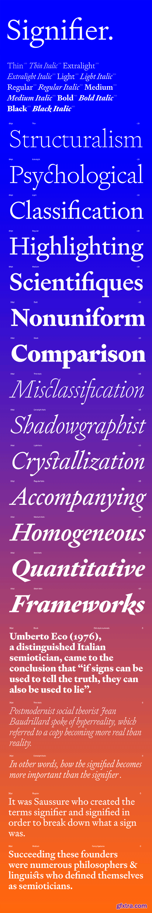 Signifier Font Family