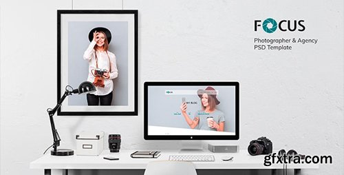ThemeForest - Focus v1.0 - Photographer portfolio PSD Template - 21066579