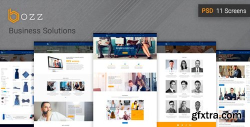 ThemeForest - Bozz v1.0 - Corporate and Business PSD Template - 20968715