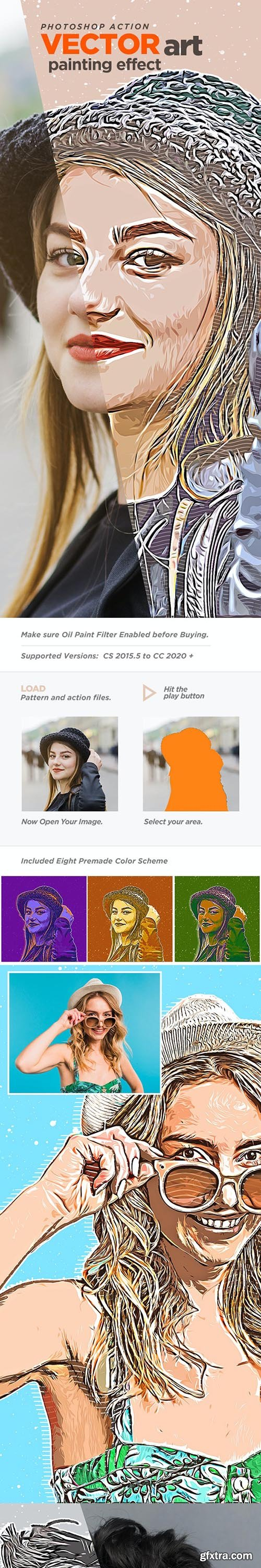 GraphicRiver - Vector Art Painting Effect Photoshop Action 27010115