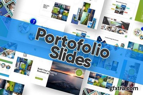 Portofolio Slide Powerpoint Template