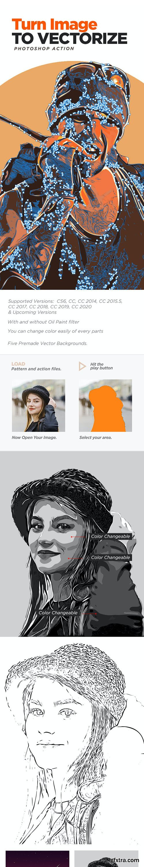 GraphicRiver - Turn Image to Vectorize With Photoshop Action 27082300