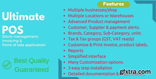 CodeCanyon - Ultimate POS v3.5 - Best Advanced Stock Management, Point of Sale & Invoicing application - 21216332 - NULLED