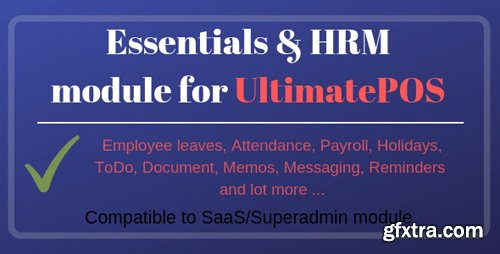CodeCanyon - Essentials & HRM (Human resource management) Module for UltimatePOS v2.0 - 23643267