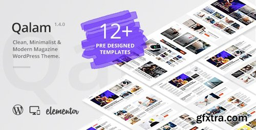 ThemeForest - Qalam v1.4.0 - NewsPaper and Magazine WordPress Theme - 24021107