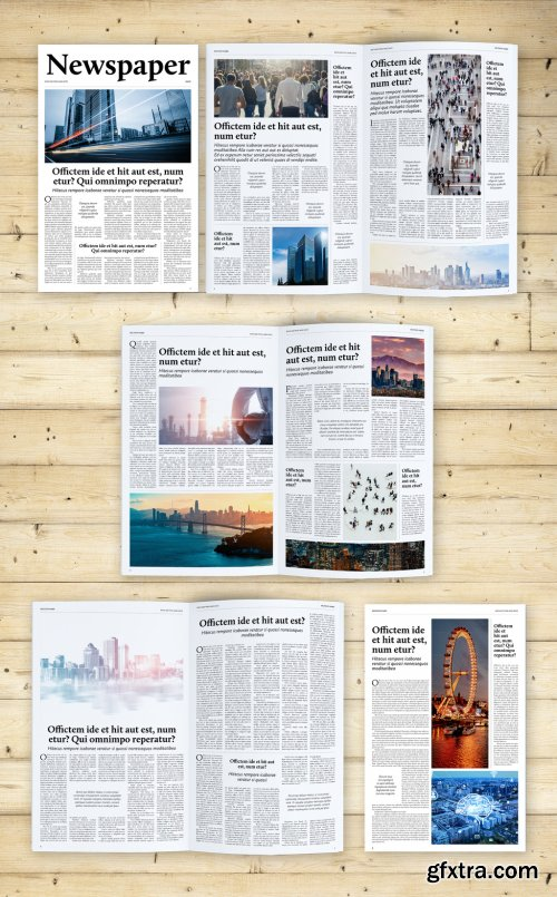 Old and Classic Tabloid Newspaper Layout 372037527